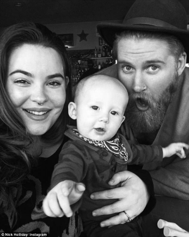 Happy family: The couple are parents to their Bowie Juniper, who born in June 2016