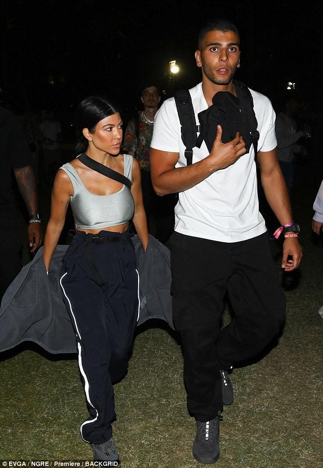 Party in the desert: Kourtney is enjoying Coachella with boyfriend Younes Benjima