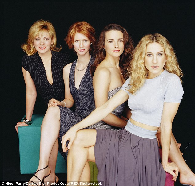 Sammy and Miranda: Nixon was the only actress who was close to Cattrall, though they have grown apart over the years (Cattrall, Nixon, Davis and Parker in 2000)