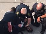 Desmond Marrow, 30, who once singed for the Texans and Buccaneers, uploaded footage of himself being arrested in Georgia over a road rage incident