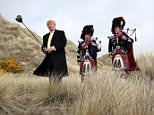 Mr Trump was a frequent visitor to Scotland before entering the White House. He is pictured at the Menie Estate in Aberdeenshire in 2010