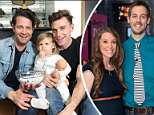 Reality star and father Nate Berkus (left) tweeted a People Magazine cover photo featuring his co-star husband Jeremiah Brent (right) and their two children, celebrating his modern family after former TLC personality Derick Dillard went on a homophobic rant directed at him; The two are shown here with their three-year-old daughter, Poppy, who is also on their show