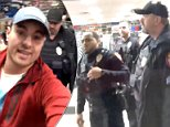 Robert Robedeaux filmed the moment he claims he was racially profiled at a Hibbett Sports store in Owasso, Oklahoma and posted it on Facebook on April 19, post pictured above