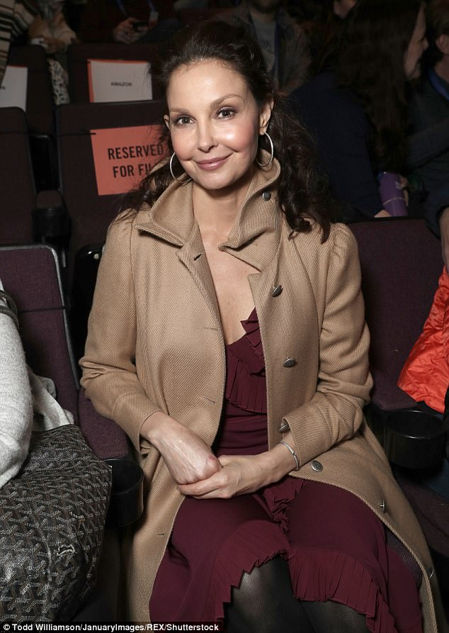 Speaking out:The actress spoke out about the incident at the Univision Communications' Behind The Camera: Where Diversity Begins panel during the Sundance Film Festival on Sunday; pictured at the You Were Never Really Here premiere at Sundance on Sunday