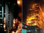 Photos emerging from the scene showed the gigantic blaze engulfing the entire 26-floor structure