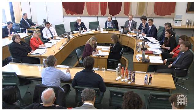 The celebrity chefs teamed up today to demand ministers take tougher action to tackle childhood obesity as they appeared before the health and social care select committee today (pictured)