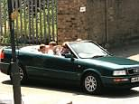 An Audi convertible that was owned by Princess Diana after her divorce from Prince Charles has emerged for sale for £62,000. She is pictured driving the car with Prince William and Prince Harry seated in the back