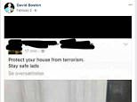 Tory council candidate David Boston has been suspended just days before local elections after posting a picture of bacon hanging on a door handle as a way to 'protect your house from terrorism'
