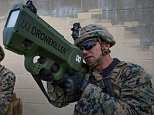 US Marine Corps Lance Corporal Briar Purty tests DroneKiller, which uses RF waves to disrupt drone command and control