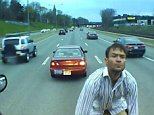 A 42-year-old man fromDorchester was caught on a bus' dash camera stopping in the middle of a highway and then confronting the bus driver