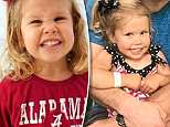 Three-year-old Sadie Grace Andrews died last year after falling into a grease trap outside of an ice cream shop in Auburn, Alabama