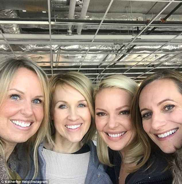 Reunited! Katherine Heigl, who is currently filming Suits in Toronto, enjoyed a long weekend with her high school girlfriends in Canada