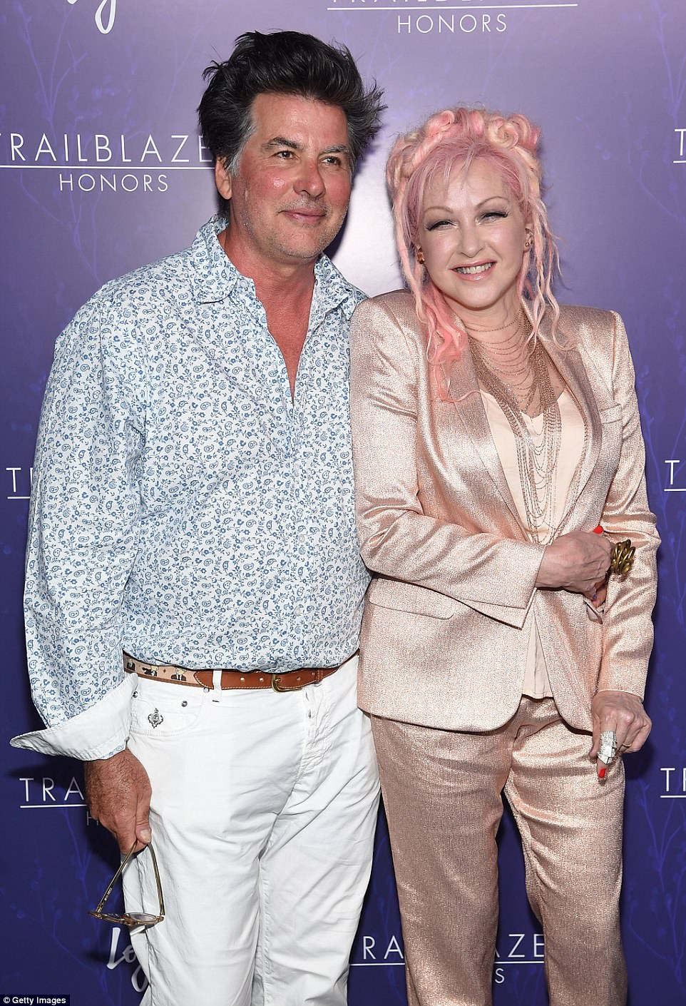 Longtime couple: Cyndi and Dave, pictured at an event in New York in June, decided to sell up as they now spend most of their time at their home in Manhattan