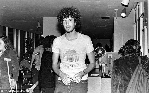 Wild-haired: Bill de Blasio, pictured in NYU's Loeb Student Center in September 1980, was active in student politics