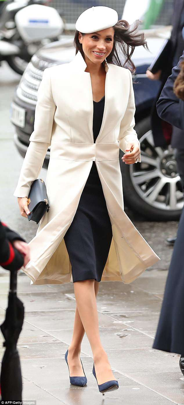 Meghan is expected to wear two wedding dresses on her big day - a 'traditional and elegant' gown for the ceremony and a more glamorous dress for the evening