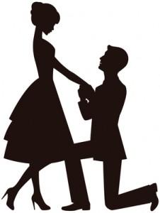 huwelijksaanzoek op knie