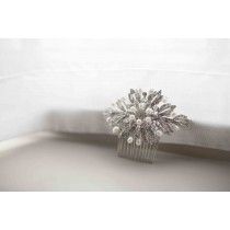 Ivory & Co. Ursula Pearl & Crystal hair comb
