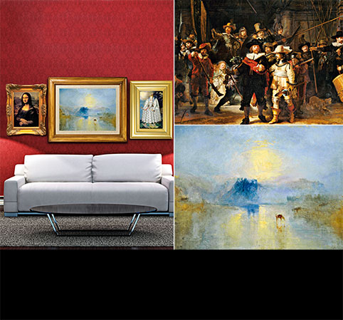 Turn YOUR living room into the world's BEST art gallery