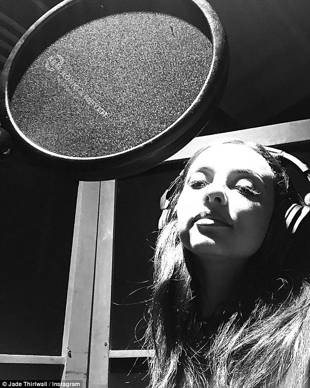 Moving forward:Jade got the fans riled up after she shared a snap of her busy recording the latest Little Mix album