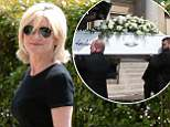 Anthea Turner arrives ahead of the funeral service of Dale Winton at Old Church, London. Photo credit should read: Doug Peters EMPICS Entertainment