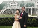 In this Saturday, May 19, 2018, photo provided by Kelly Brown, James Buchanan High School senior Kaylee Suders and Robert Brown pose for a photo at Green Grove Gardens in Greencastle, Pa. Brown, a Pennsylvania man whose son died a month before the senior prom, escorted Suders, his late son's date to the dance Saturday. Robert Brown says he knew his son would've still wanted Suders to go to the prom. Suders says she didn't want to attend after Carter's death but changed her mind when his father asked to accompany her instead. (Kelly Brown via AP)