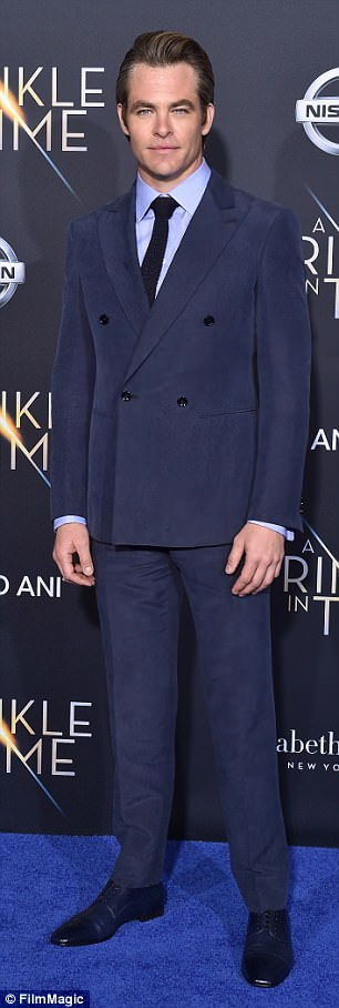 Happy:Chris Pine and Annabelle Wallis are 'dating', reports US Weekly; Chris at A Wrinkle In Time's premiere in LA on February 26
