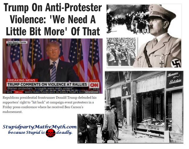Donald Trump promoting anti-protester violence -  sounds like something he'd do.