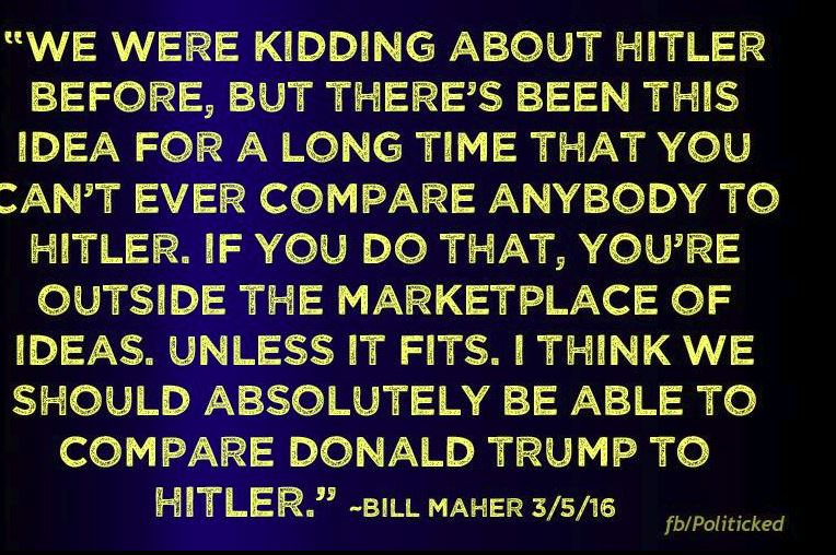 Donald Trump is being compared to Hitler