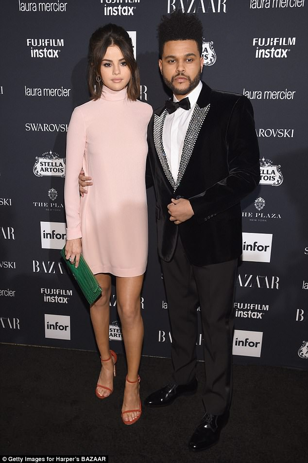 Past love:The Weeknd split from Selena Gomez earlier this year