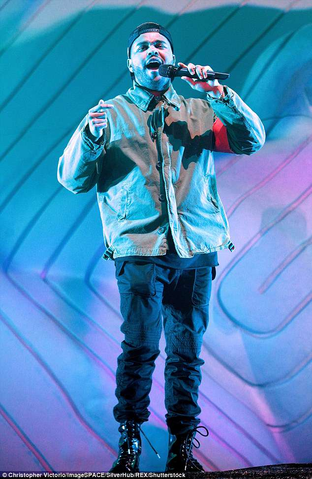 Crooner: The Weeknd has been rocking the Coachella festival this weekend