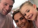 Tiffany Youngs, 32, pictured with her daughter Maisie and husband Tom, says he cancer has disappeared after a year of alternative therapies including fasting and cannabis oil