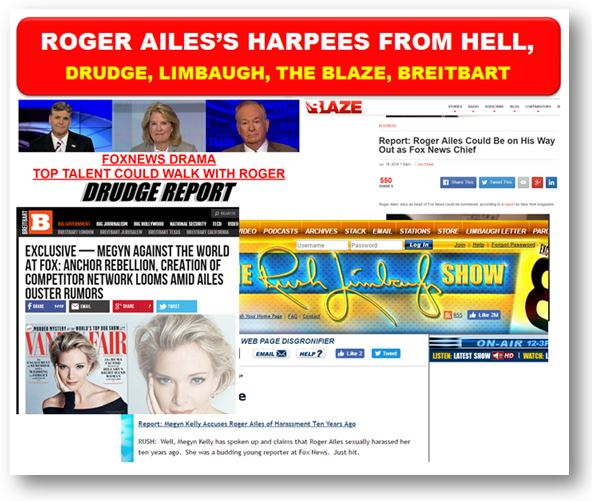 Roger Ailes's Harpees—Drudge, Limbaugh, The Blaze, Breitbart