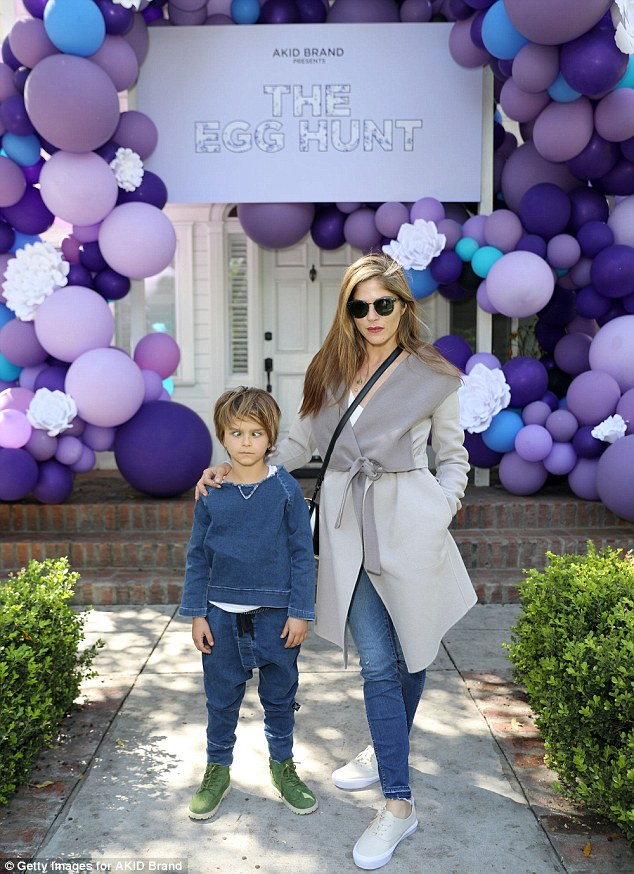Ready for fun! On Saturday, Selma Blair, 45, took son Arthur Saint Bleick to the AKID Brand's 3rd Annual The Egg Hunt at Lombardi House in LA