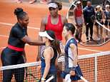 Serena Williams has continued her triumphant return to professional tennis with a doubles win against Japanese competitorsShuko Aoyama and Miyu Kato