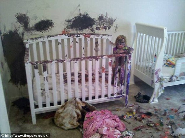 For most parents they can at least give thanks to the fact that their kids have confined the destruction to their own home