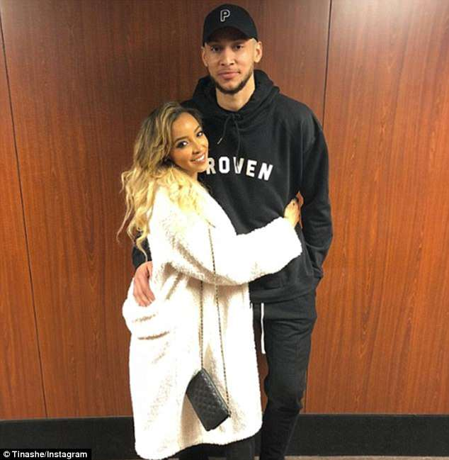 Short-lived: Simmons confirmed he was dating singer Tinashe, 25, in March with some cuddly Instagram snaps (pictured above)