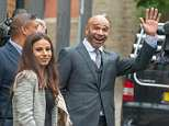 'Always sorry': Goldie - pictured outside court with his daughter, Chance, said he had taken a bullet for her after his sentencing