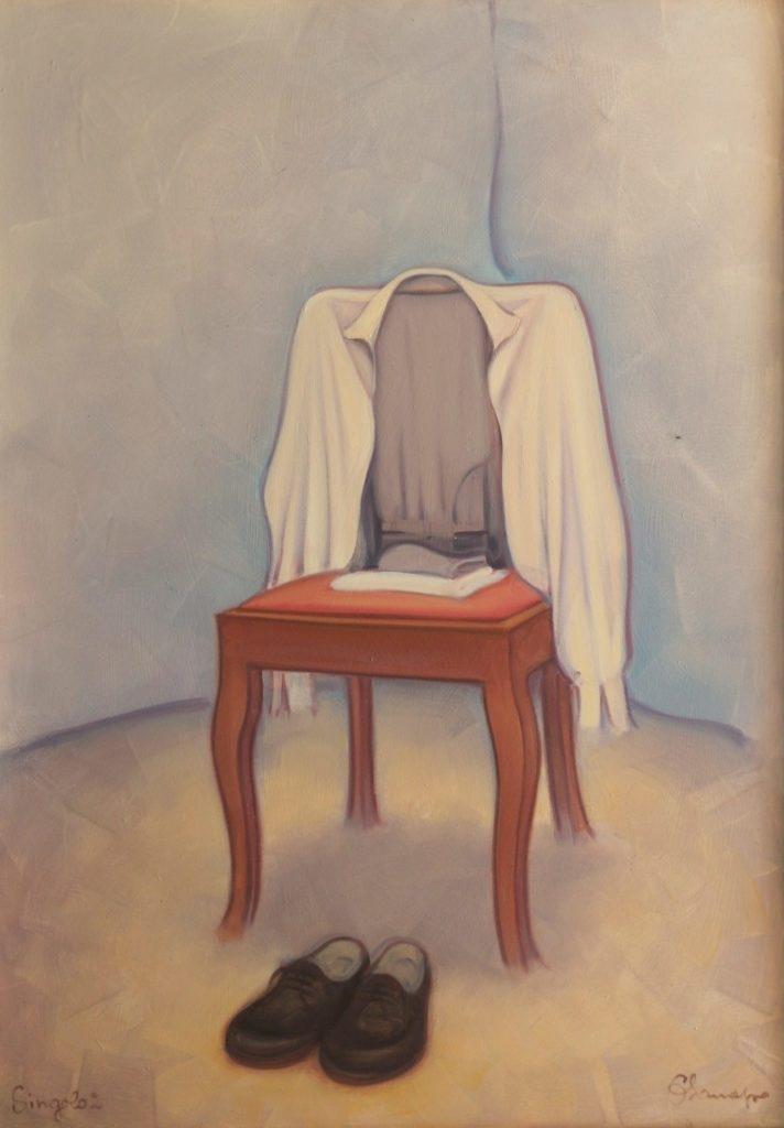 Ritratto di Figura Maschile 2. Olio su tela. 95 x 70 cm