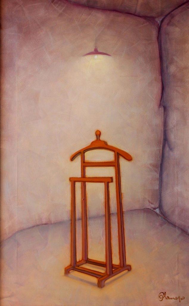 Figura Maschile. Olio su tela. 100 x 65 cm