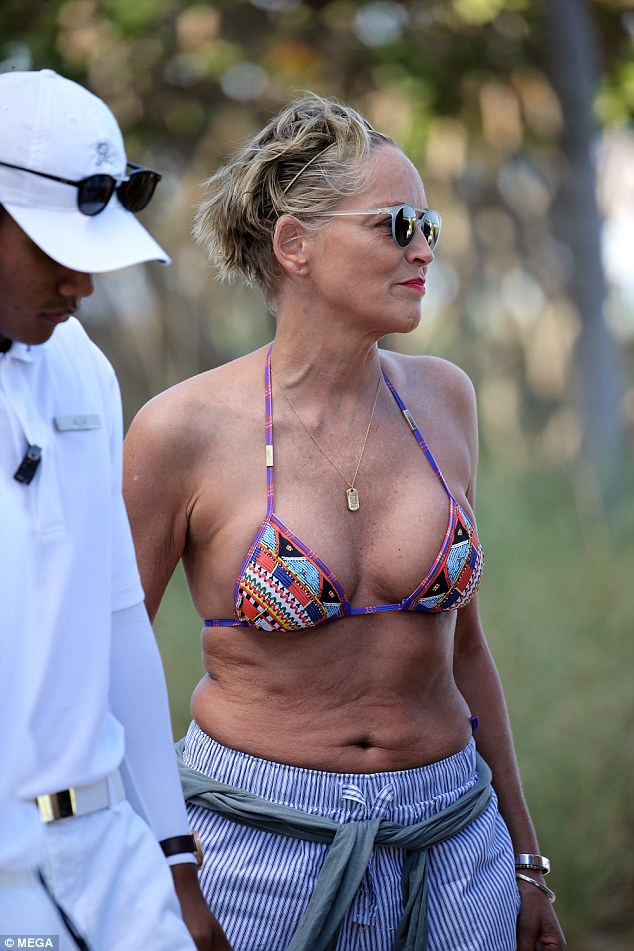 Youthful: Sharon Stone has admitted she's never been happier after turning 60 over the weekend, admitting she feared she wouldn't make it to 50 after suffering a stroke in 2001