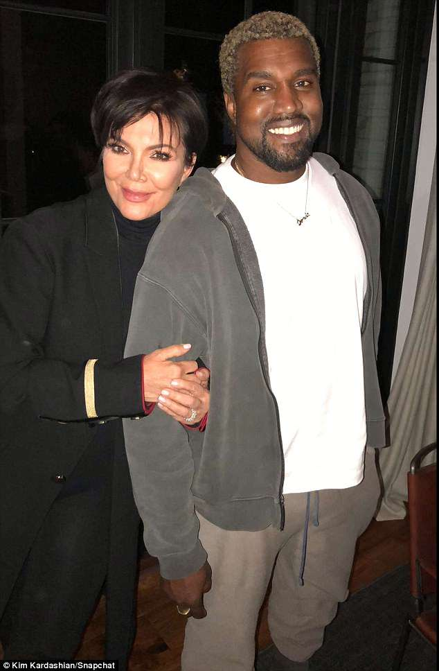 All smiles! Kanye and Kris looked to be in a chipper mood