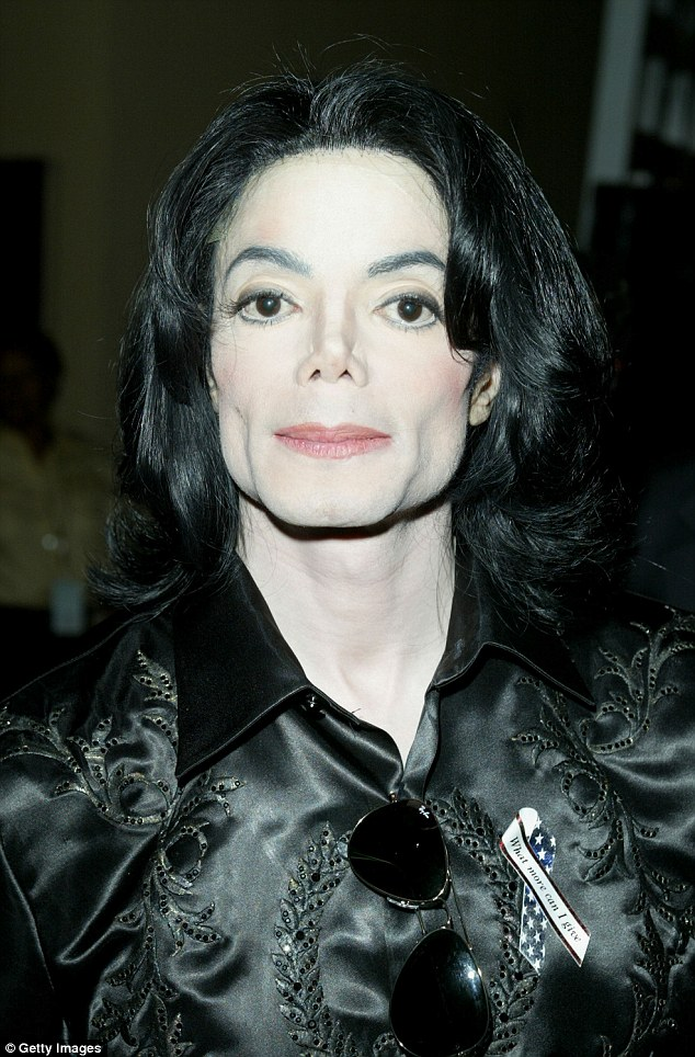 Michael Jackson backstage at The 2003 Radio Music Awards at the Aladdin Casino Resort in Las Vegas, Nevada