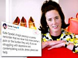 American icon:Kate Spade was found dead at the age of 55 in her Park Avenue apartment on Tuesday (Spade above in 2004)