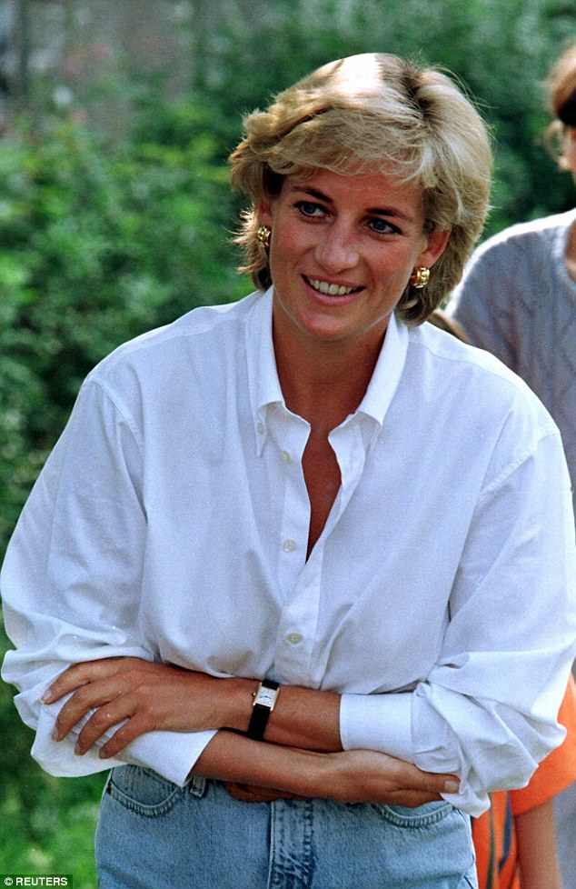 Just last week Sir Elton John, another close friend of Diana (pictured), revealed he had not received an invitation to the royal nuptials