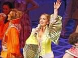 Steph Parry (pictured) saved a performance of Mama Mia! on Thursday night when the lead actress injured herself and couldn't perform