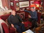 Getting answers: Norman Scott, right, talks to Dennis Meighan at his home on the edge of Dartmoor