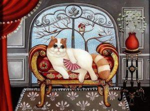 Marie Amalia, Le chat à l'éventail