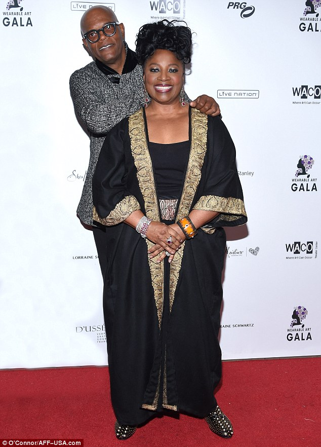 Couple of cuties!On the red carpet he was joined by wife of 38-years LaTanya Richardson, who dazzled in an elegant black tunic with gilded trim
