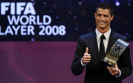 Cristiano Ronaldo wins Fifa World Player of the Year