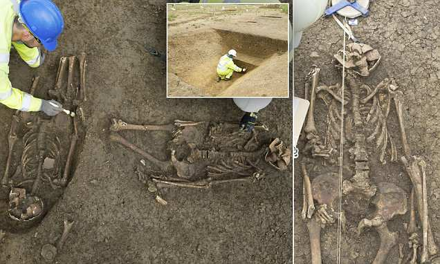 1,500-year-old dismembered remains of three men are found at a Roman site in